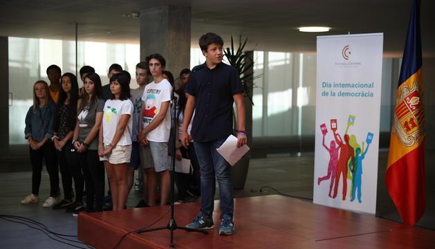 Alumnes de l'Escola Andorrana de Segona Ensenyança d'Encamp
