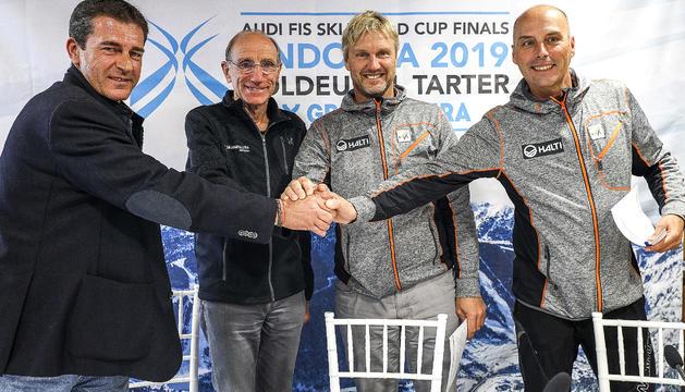 Els tècnics de la FIS i el president de la Federació Andorrana d'Esquí han comparegut aquesta tarda a Soldeu