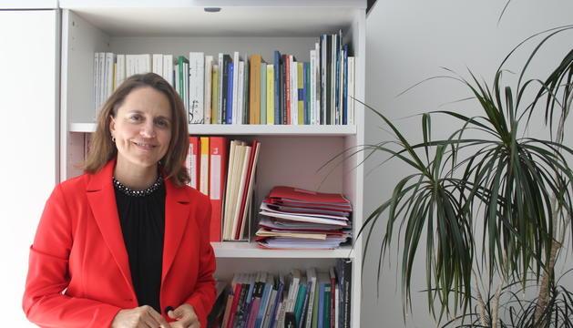 La consellera general del PS, Rosa Gili, al seu despatx del Consell General.
