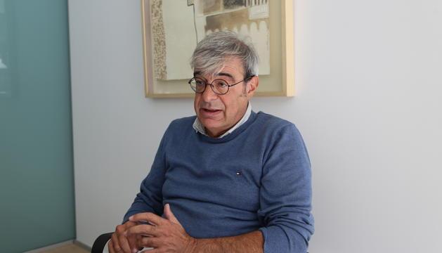 Ladislau Baró, durant l'entrevista al Consell General.