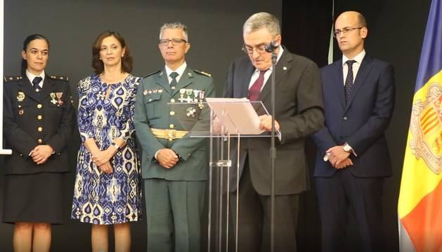 L'ambaixador espanyol, Àngel Ros, durant el seu discurs