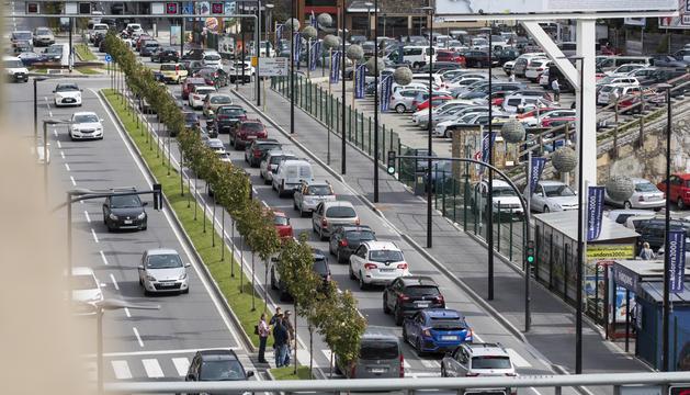 L'Avinguda Tarragona aquest migdia.