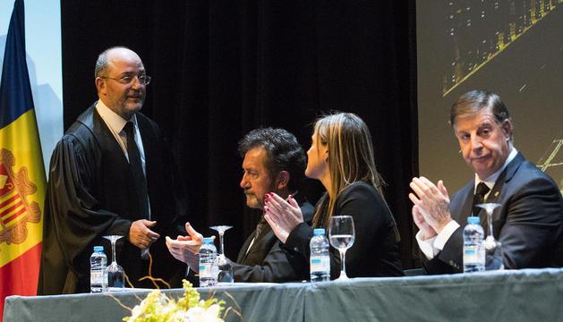 Alfons Alberca en acabar el seu discurs