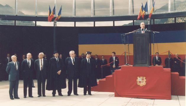 El Copríncep va oferir un discurs a la plaça del Poble i un altre al Consell General