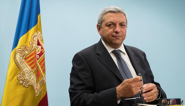 Xavier Bardina, director del Consell del Joc, durant la presentació del guanyador del concurs del casino: Jocs S.A.