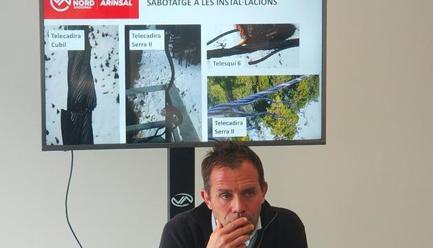 Josep Marticella ha comparegut per explicar els danys que ha patit l'estació
