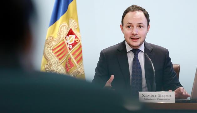 Roda de premsa posterior al consell de ministres amb el ministre d'Afers Socials, Justícia i Interior,Xavier Espot