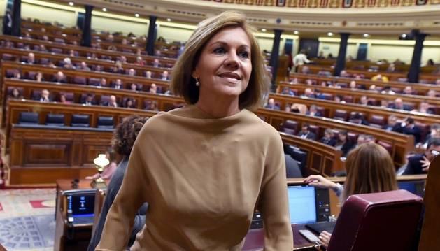 María Dolores de Cospedal, al Congrés.