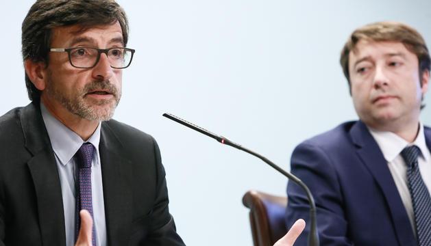 Jordi Cinca i Albert Hinojosa han presentat el balanç de la campanya de l'IRPF