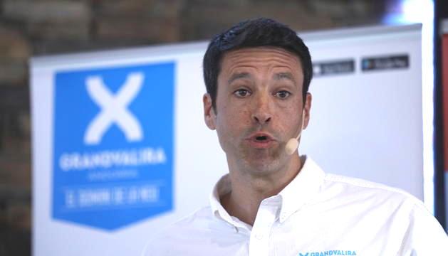 El director general de Grandvalira, Alfonso Torreño, durant la presentació de la temporada d'esquí, avui