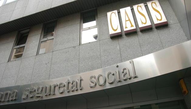 Façana de la seu de la Caixa Andorrana de Seguretat Social (CASS).
