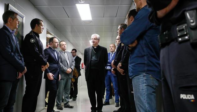 Visita del copríncep episcopal a les dependències del ministeri d'Interior, avui
