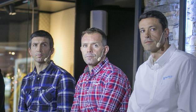 Xabier Ajona, Josep Marticella i Alfonso Torreño durant la presentació.