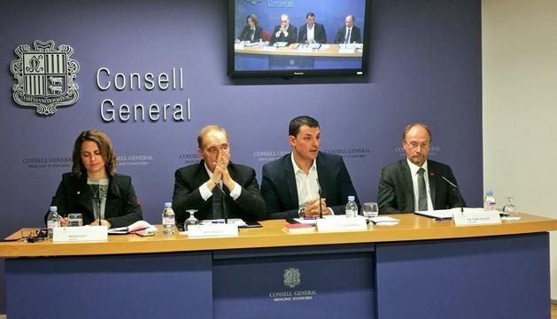 Roda de premsa del Grup Mixt al Consell General