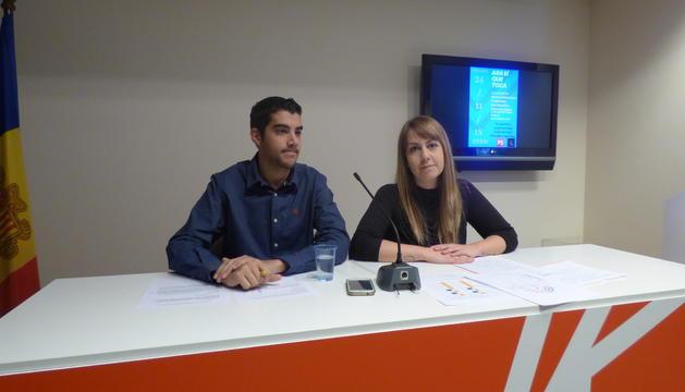 El coordinador de la JSA, Pere Baró, i la tresorera, Cristina Valen