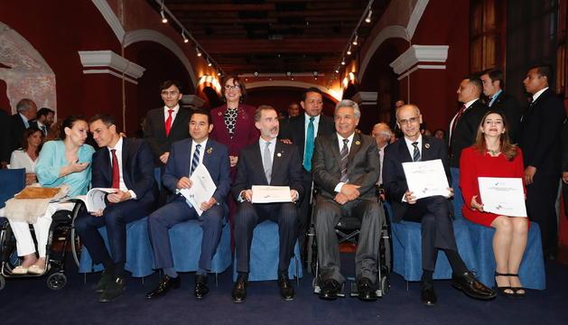 Toni Martí a la trobada pels drets de les persones discapacitades a Guatemala, ahir