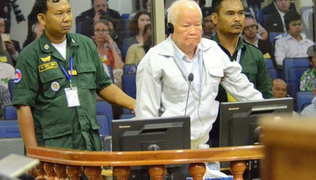 L'antic cap d'Estat del règim dels Khmers Rojos, Khieu Samphan.