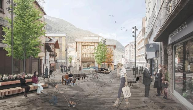 Simulació de la remodelació entre el tram entre la plaça de Sant Miquel i Hotel Rosaleda