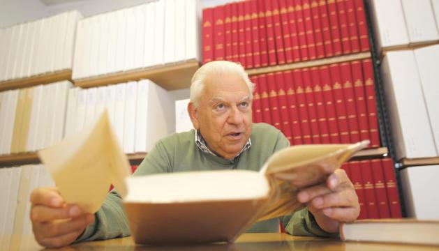 El desaparegut Pere Canturri, homenatjat amb el llibre.
