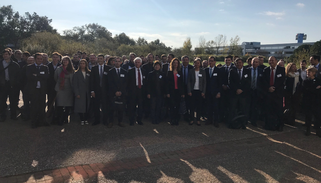 Els empresaris assistents a la jornada franco-andorrana