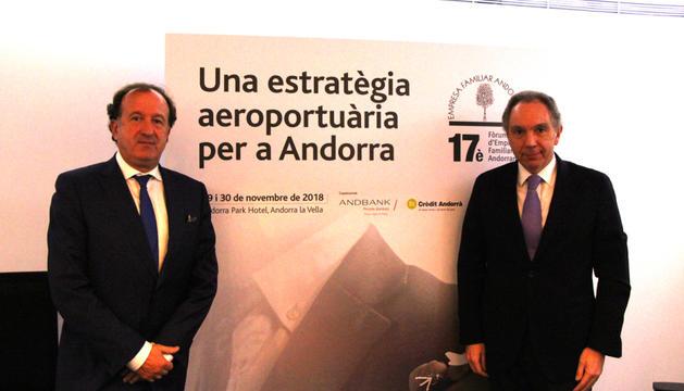 Joan Tomàs i Francesc Mora, directius de l'EFA.