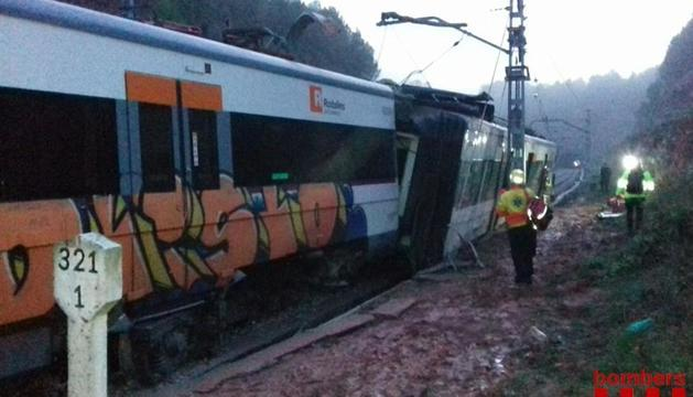 Imatge del tren accidentat