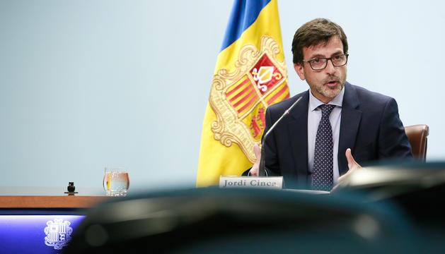Roda de premsa posterior al consell de ministres amb el ministre portaveu, Jordi Cinca