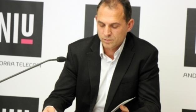 El director del Niu d'Andorra Telecom, Miquel Gouarré.