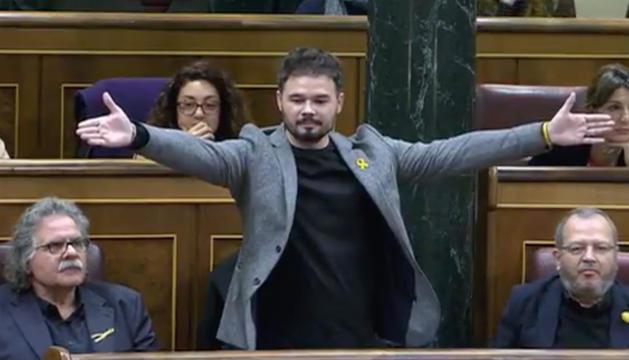 Gabriel Rufián, ahir al Congrés dels Diputats.