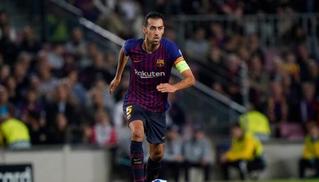 Sergio Busquets en un partit amb el Barça.