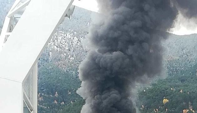 Fum de l'incendi