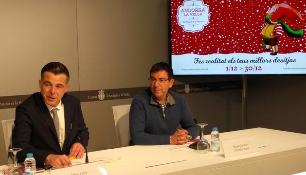 Pons i Canturri en la presentació que es va fer ahir.