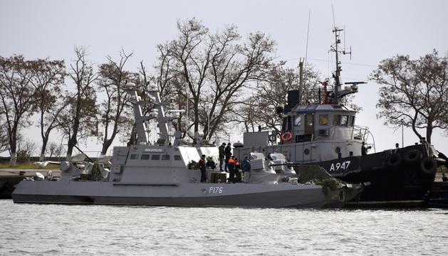 Una de les embarcacions ucraïneses retingudes.