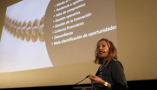 Siobhan O'Rourke durant la seva conferència en la tercera edició d'Inntec