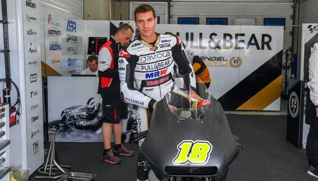 Xavi Cardelús amb la KTM de l'Ángel Nieto Team al Circuit de Jerez.