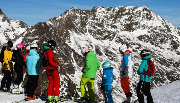 Esquiadors a Arcalís.
