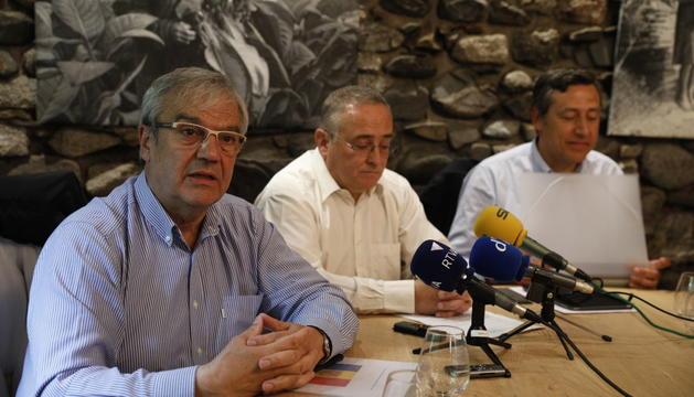 Els membres Josep Duró, Albert Font i Josep Antoni López Alcántara.