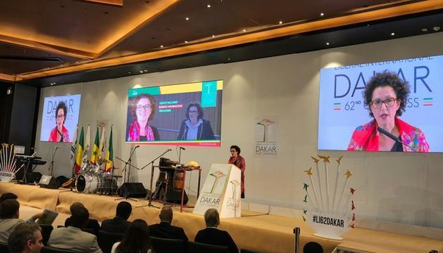 Pallarés durant el plenari del congrés de la Liberal Internacional.
