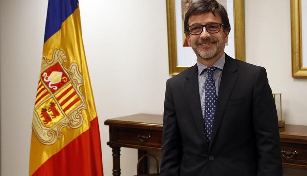 Jordi Cinca, ministre de Finances, aquesta tarda a Govern