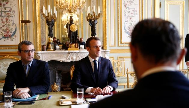 Emmanuel Macron durant una reunió amb el seu govern, dissabte passat.