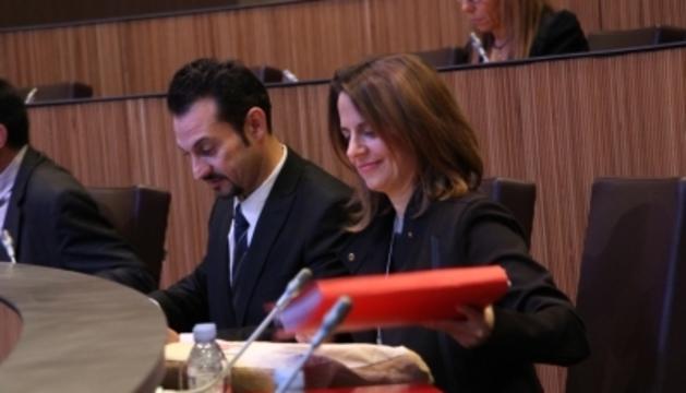 Consellers socialdemòcrates, durant la sessió d'avui