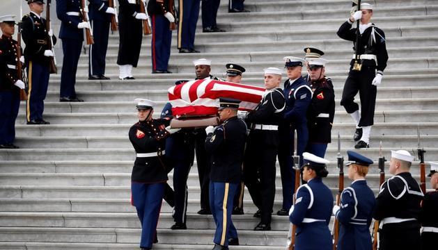 Un moment del funeral d'Estat de l'ex-president nord-americà.