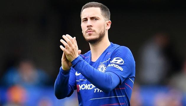 Eden Hazard en un partit amb el Chelsea.
