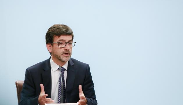 El ministre portaveu, Jordi Cinca, ahir.