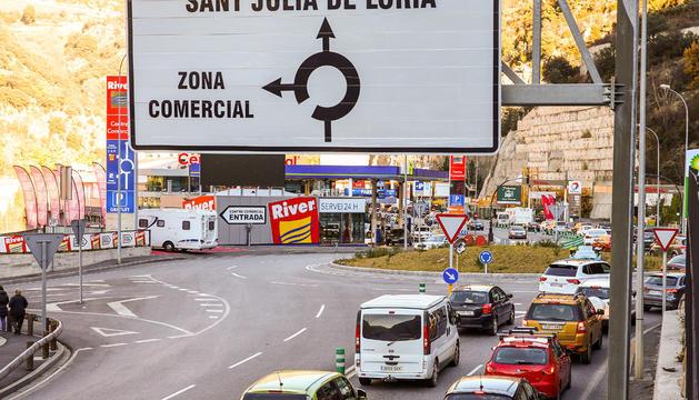 Retencions a l'entrada de Sant Julià