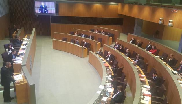 Vista general del Consell durant una de les intervencions del demòcrata Josep Anton Bardina.