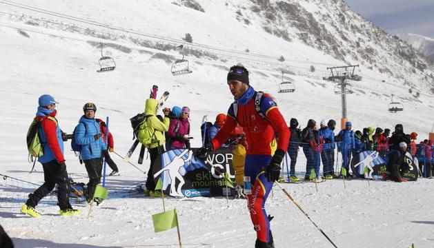 Jordi Solé, esquiador de muntanya, durant la Font Blanca.