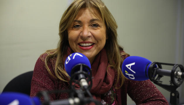 Conxita Marsol en un moment de l'entrevista a la ràdio del Diari.
