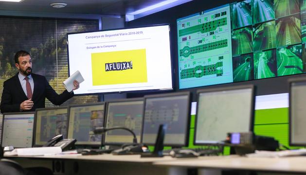 El ministre Jordi Torres ha presentat la campanya de trànsit 'Afluixa' aquest matí