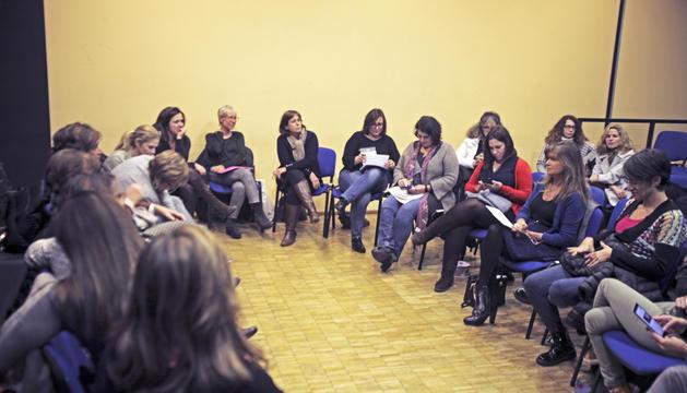 Acció Feminista va celebrar l'assemblea constituent en un local de La Llacuna.
